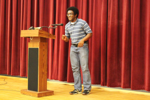 Junior class president wins Poetry Out Loud