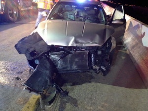 Senior walks away with minor injuries after car wreck