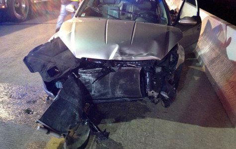 Senior walks away with minor injuries after car wreck