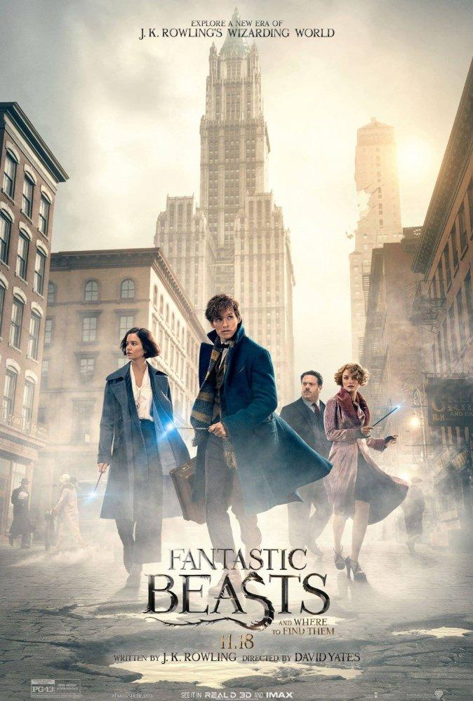 (From left to right) Katherine Waterston as Tina Goldstein, Eddie Redmayne as Newt Scamander, Dan Fogler as Jacob Kowalski and Alison Sudol as Queenie Goldstein.  Actors were allowed to design their custom wands for the movie.