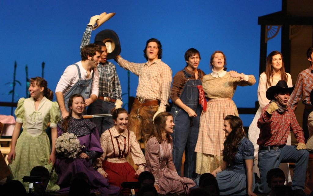 Oklahoma!:Behind-the-scenes of the school production