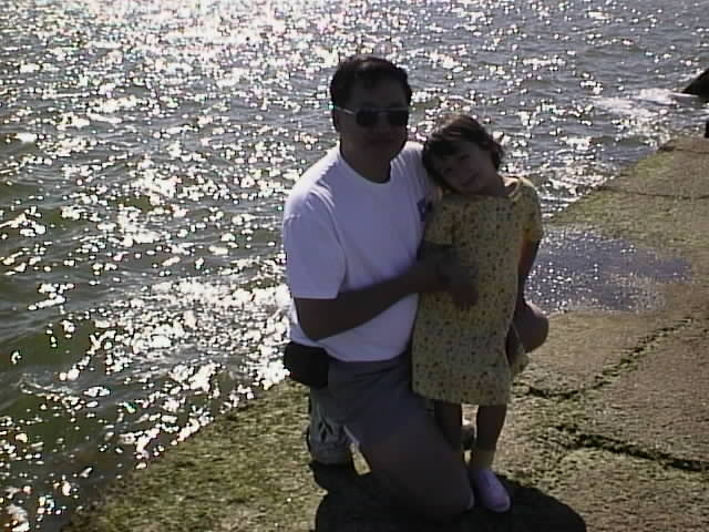 A much younger Pao with her older cousin, Jonothan James. Pao describes her cousin as a