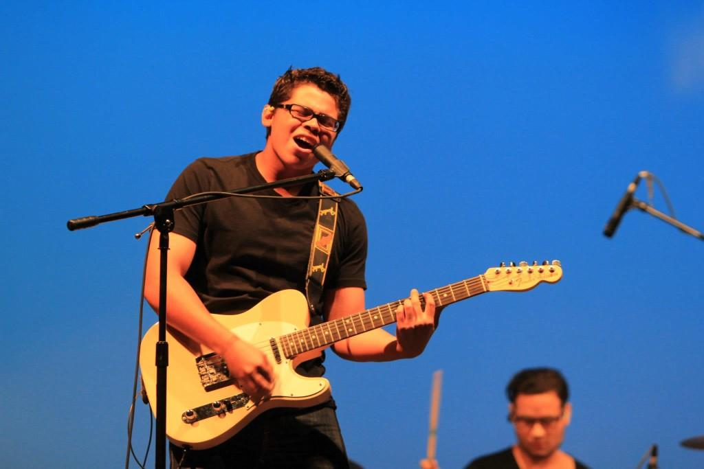 Uriah Solis sings and plays guitar for Cinco's Got Talent performance