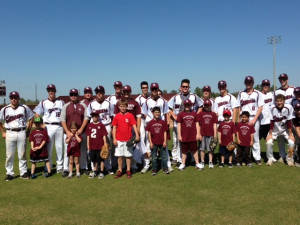 Baseball team gains relief, support from buddies