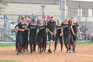 Softball moves on to semi-finals after comeback
