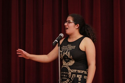 Photo story: Freshman takes first place in Poetry Out Loud contest