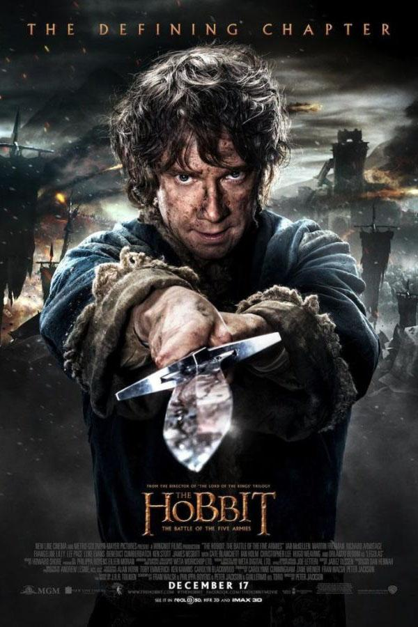 Bilbo Baggins (Martin Freeman) on the official movie poster.
