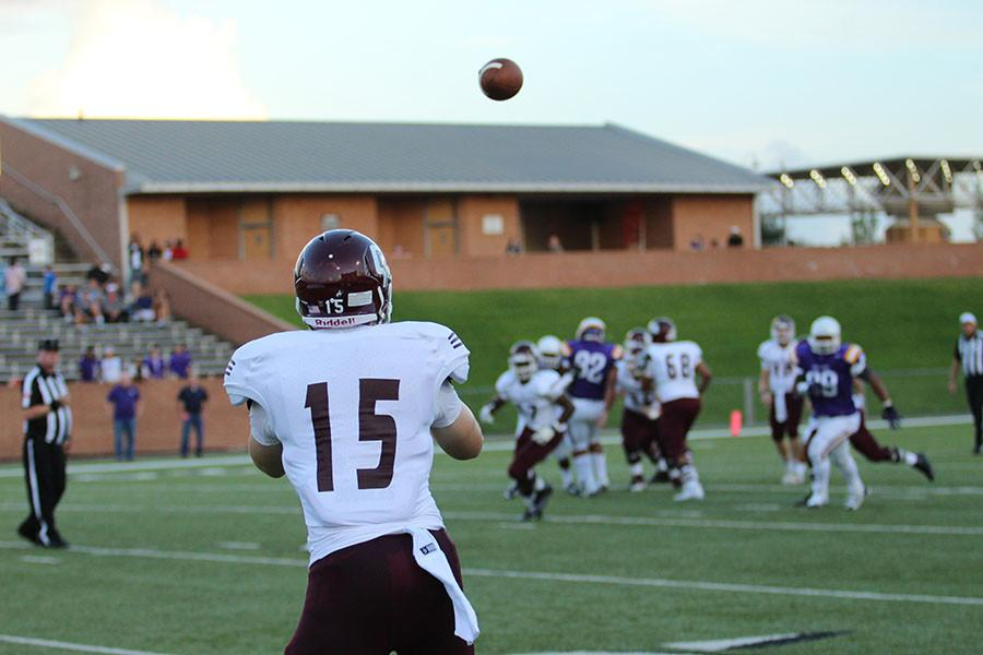 Senior Corey Rau awaits to catch a pass from his teammates.