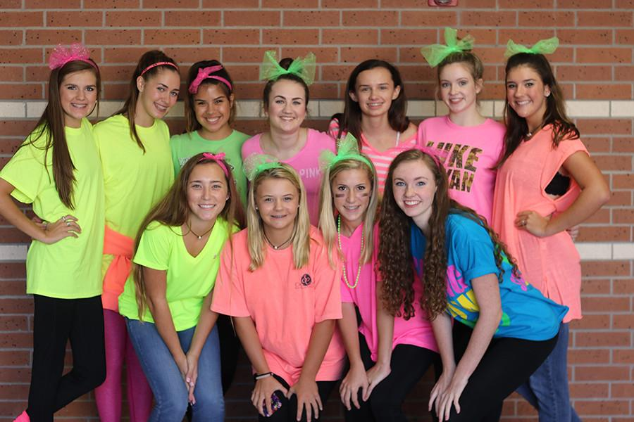 Cinco students hit the halls dressed head to toe in neon Wednesday for this week's theme day,