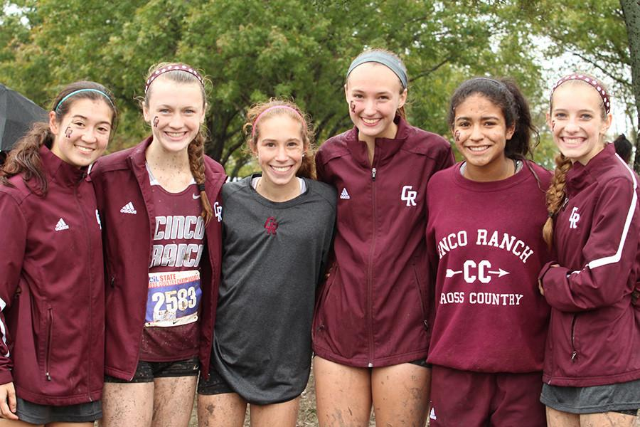 The girls cross country team is all smiles after a 6th place finish at the UIL State Meet in Round Rock Saturday. Sophomore Reagan Kappel earned 2nd place silver medal honors individually.