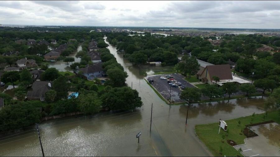 Old Katy experiences heavy flooding. Students in this region of the district did not have to go to school this week, as it was closed.