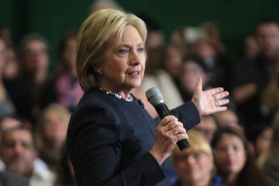 Former Secretary of State Hillary Clinton speaks at a campaign event. She will be tested by Bernie Sanders supporters, who vow to fight for the Vermont Senator's nomination.