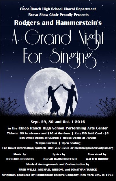 "Bravo Show Choir brings ""A Grand Night for Singing"" to the stage"