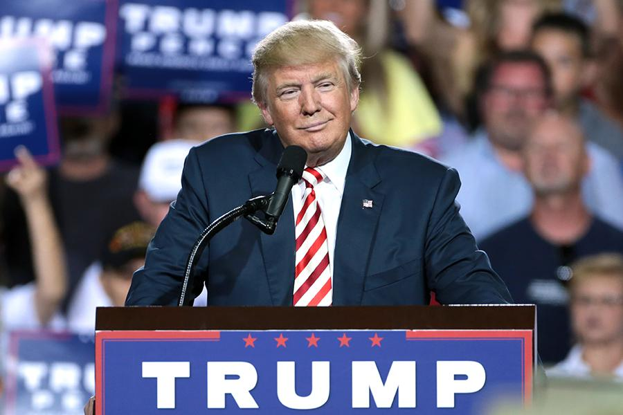 Trump speaks at a campaign rally in Arizona. His victory could mean serious changes in both parties, and even the rise of a third party.