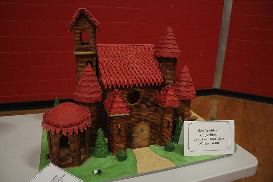 Non-Traditional Gingerbread House created by senior Natalie Grant.