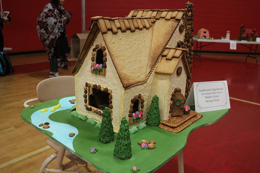 A traditional Gingerbread House created by seniors Natalie Grant and Morgan Bush.