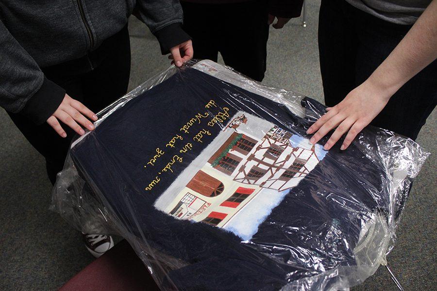 T-Shirt design created by  senior Rachel Pham.