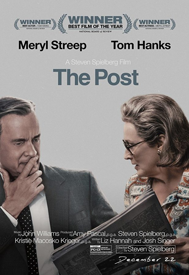 With+director+Steven+Spielberg%2C+composer+John+Williams%2C+and+Hollywood+veterans+Tom+Hanks+and+Meryl+Streep%2C+The+Post+is+in+the+running+for+the+Academy+Award+for+Best+Picture.