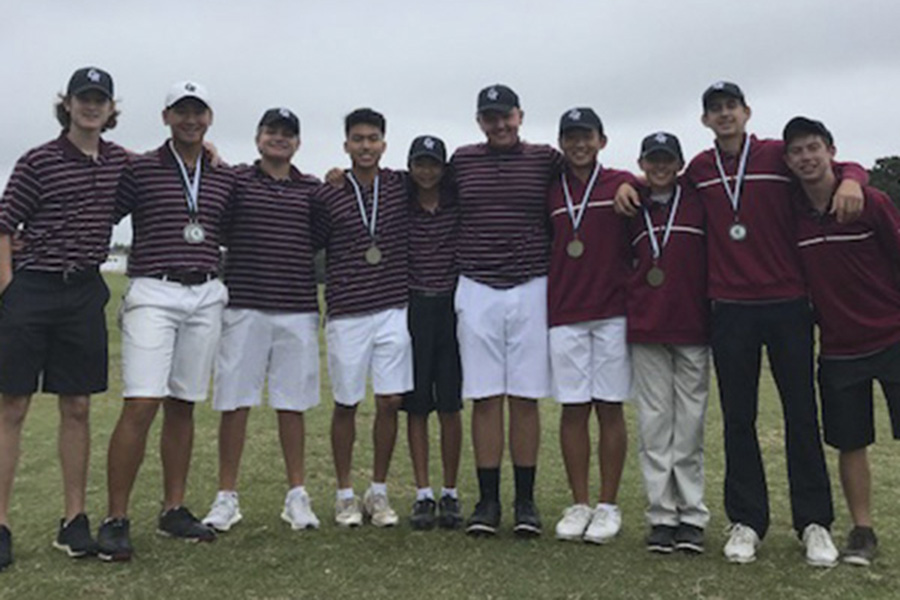 The varsity boys golf squad earned team and individual tournament victories Friday in the season opening event at Raven Nest Golf Club. Sophomore James Chong paced the team with a 1-over par win.