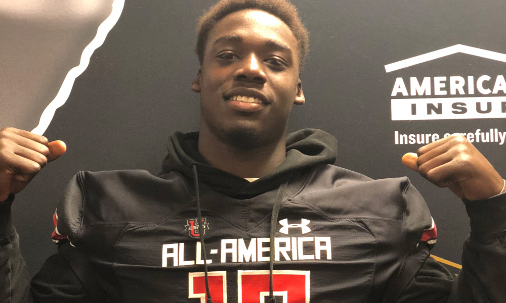 Senior+LB+David+Gbenda+was+recognized+Thursday+by+UnderArmour+for+selection+in+the+2019+All-America+game+scheduled+Jan.+3+in+Orlando.+This+game+features+the+nation%27s+top+100+elite+players+as+selected+by+UnderArmour.+