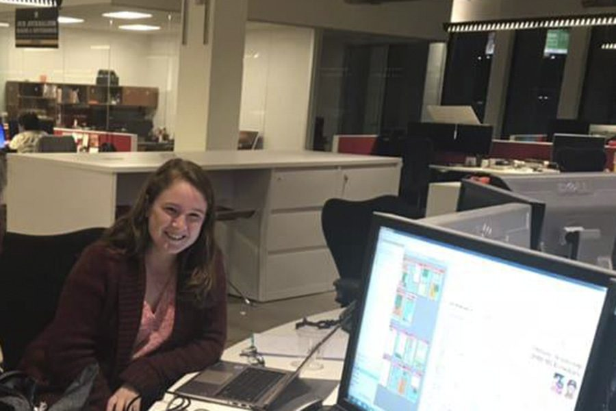Cinco Ranch alumnus Emily Burleson enjoys the journalism challenges while interning at the Houston Chronicle.