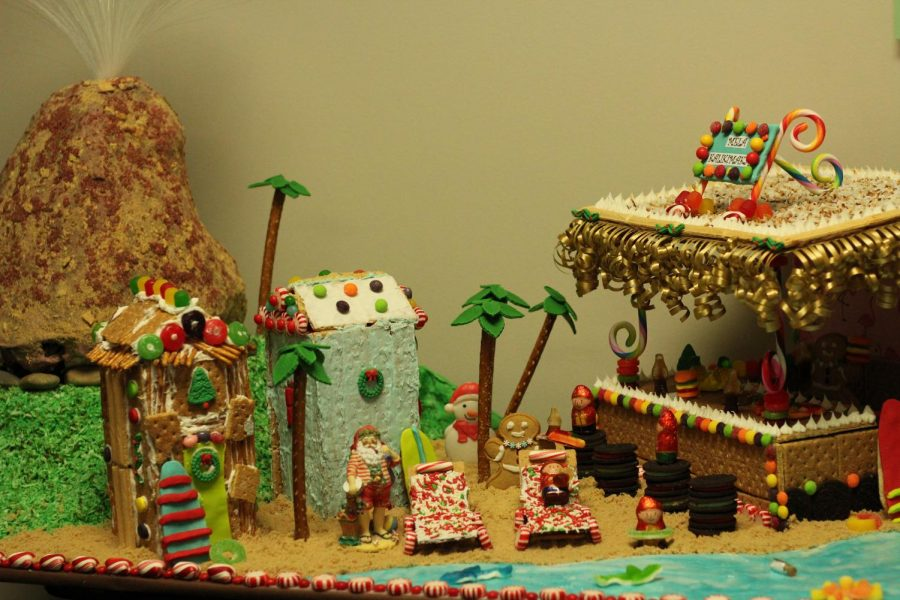 Students and teachers raise the roof with handcrafted gingerbread houses