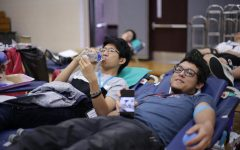 Students lend a hand with the blood drive