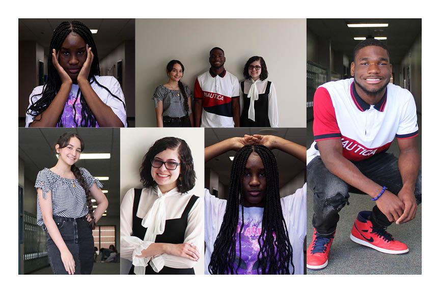 Students+of+Cinco+Ranch+model+their+best+fashion+attire+including+seniors+Lifted+Lamai%2CNora+Sherif%2C+Chris+Dunn%2C+and+junior+Alyssa+Hale.