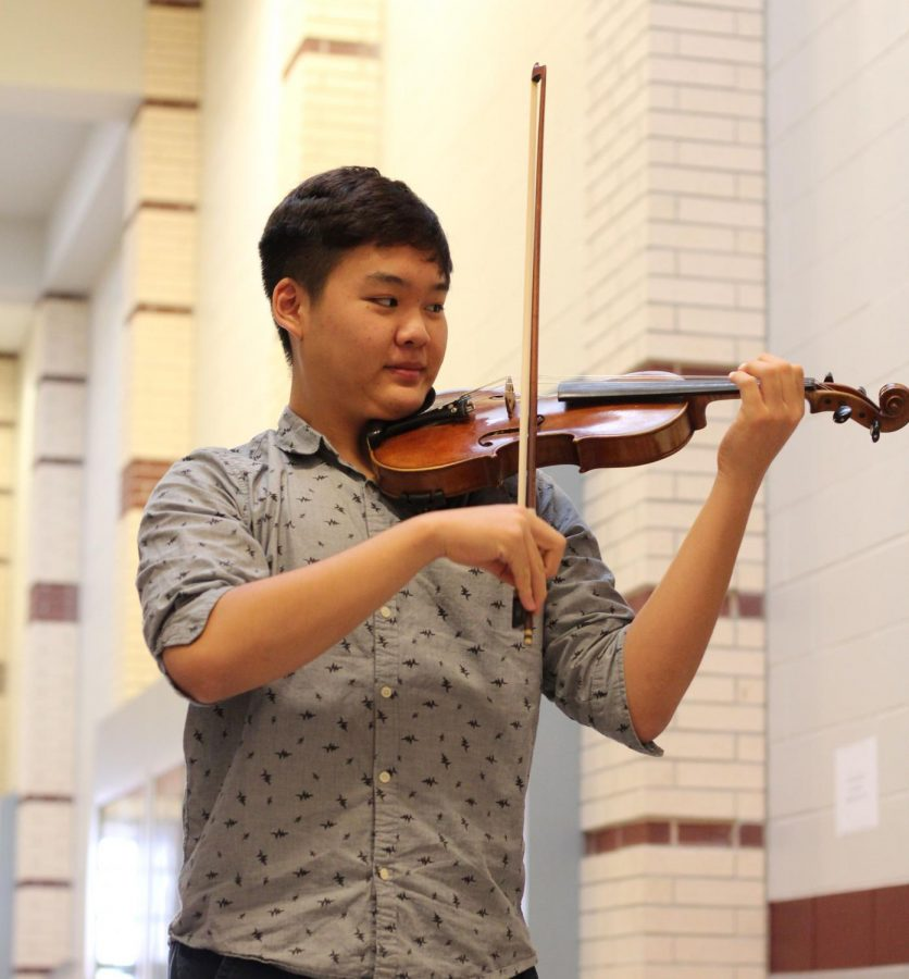Junior Desheng Liu also plays in the Houston Youth Symphony.