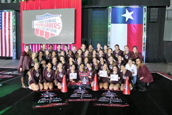 Varsity Cheer Clean Sweeps at Lone Star Classic