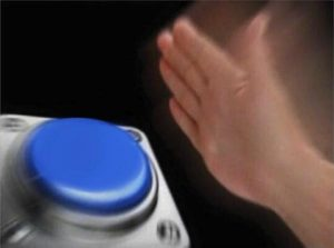 The blue button meme is one of many memes creating a division between generations.