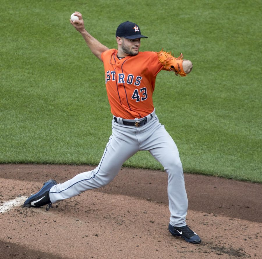 Lance McCullers Jr. earned the win in game 3 of the 2017 World Series.