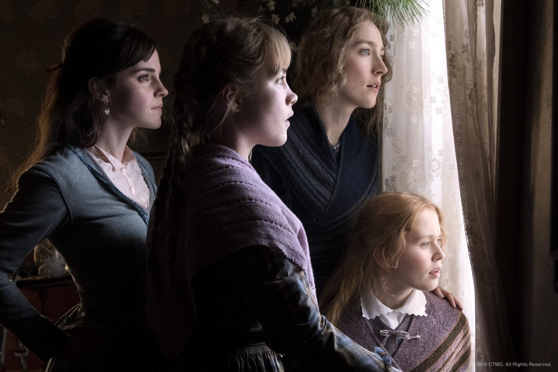 Emma Watson, Florence Pugh, Saorise Ronan, and Eliza Scanlen in Little Women. (Courtesy of Sony Pictures)