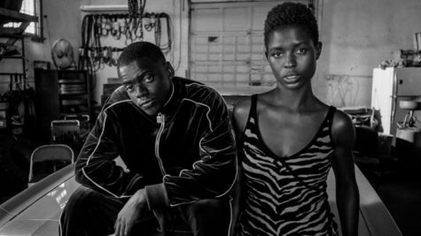 Daniel Kaluuya and Jodie Turner-Smith as Queen and Slim