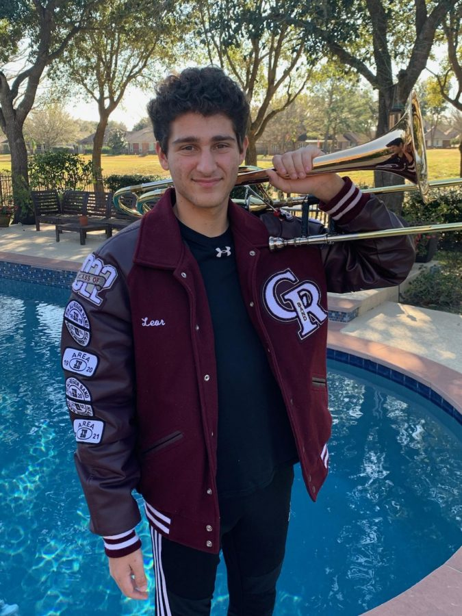 Junior Leor Arbel poses for a picture outside his home on February 2, 2020.