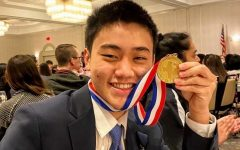 Senior Daniel Yang receives first place in math at State for Academic Decathlon